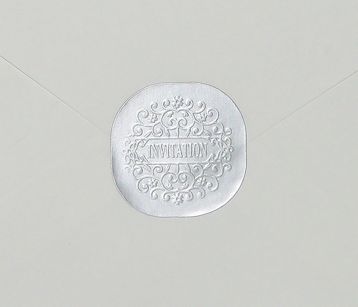 50 Pack Silver Round Square Foil Wedding Invitation Envelope Seal Stickers